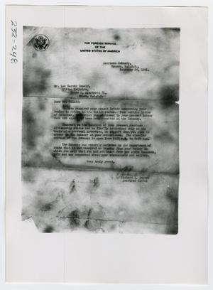 Primary view of object titled '[Document, Photograph #36]'.