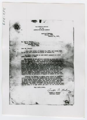 [Photographs of Letters from American Embassy]