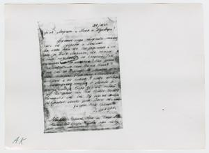 Primary view of object titled '[Photographs of Handwritten Letter]'.