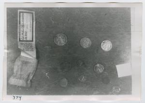 Primary view of object titled '[Photograph of Coins]'.