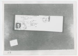Primary view of object titled '[Photograph of Document]'.