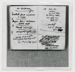 Primary view of object titled '[Pages in Oswald's Book, Photograph #8]'.