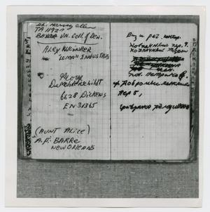 Primary view of object titled '[Pages in Oswald's Book, Photograph #17]'.