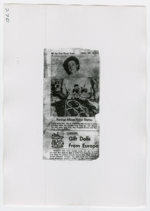 Primary view of object titled '[Newspaper Clippings, Photograph #1]'.