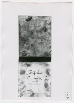 Primary view of object titled '[Writing Tablet, Photograph #2]'.