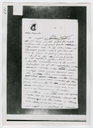 Primary view of object titled '[Oswald's Stationary, Photograph #4]'.