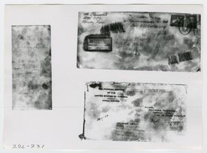 Primary view of object titled '[Photographs of Envelopes]'.