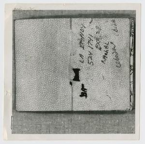 Primary view of object titled '[Pages in Oswald's Book, Photograph #1]'.