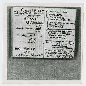 Primary view of object titled '[Pages in Oswald's Book, Photograph #10]'.