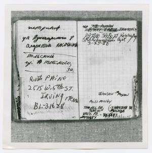 Primary view of object titled '[Pages in Oswald's Book, Photograph #29]'.