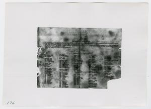 Primary view of object titled '[Photograph of Disbursing Station Code Document]'.