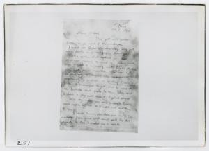 [Photographs of Letter from Oswald's Home]