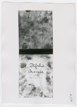 Primary view of object titled '[Writing Tablet, Photograph #1]'.