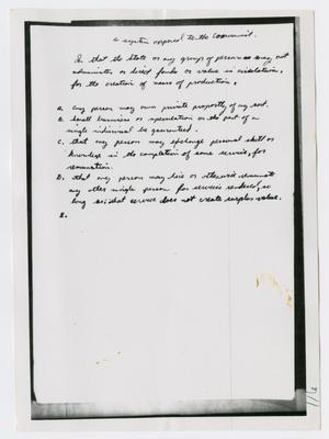 Primary view of object titled '[Oswald's Diary, Photograph #65]'.