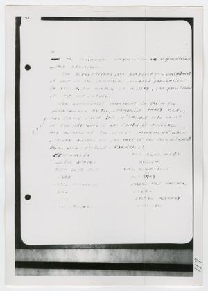 Primary view of object titled '[Oswald's Notebook, Photograph #2]'.