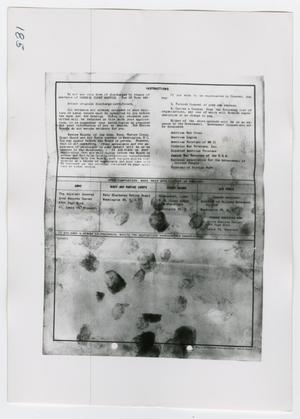 Primary view of object titled '[Application for Review of Discharge, Photograph #4]'.