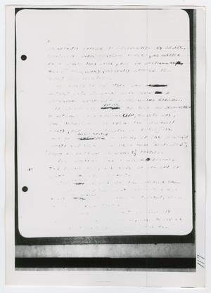 Primary view of object titled '[Oswald's Notebook, Photograph #4]'.