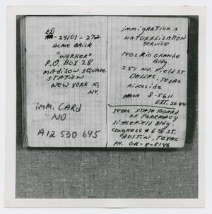 Primary view of object titled '[Pages in Oswald's Book, Photograph #11]'.