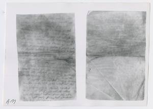 Primary view of object titled '[Illegible Letter, Photograph #2]'.