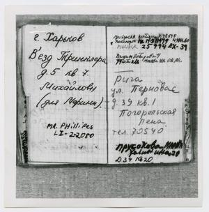 Primary view of object titled '[Pages in Oswald's Book, Photograph #28]'.