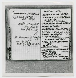 Primary view of object titled '[Pages in Oswald's Book, Photograph #23]'.