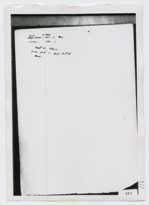 Primary view of object titled '[Photographs of Oswald's Diary]'.