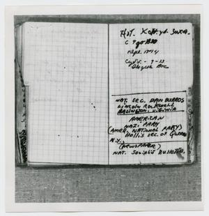 Primary view of object titled '[Pages in Oswald's Book, Photograph #26]'.