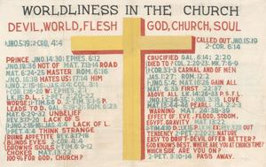 Primary view of object titled 'Worldliness in the Church'.