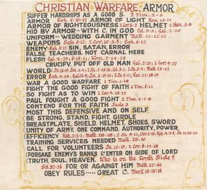 Primary view of object titled 'Christian Warfare, Armor'.