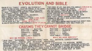 Primary view of object titled 'Evolution and Bible'.
