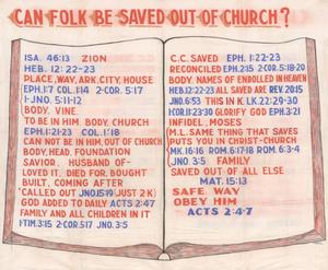 Primary view of object titled 'Can Folk Be Saved Out of Church?'.