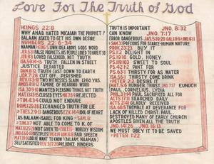 Primary view of object titled 'Love For The Truth of God'.
