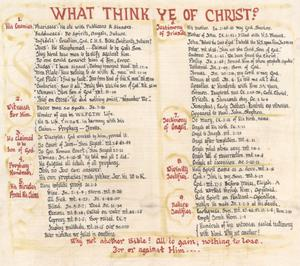 Primary view of object titled 'What Think Ye of Christ?'.