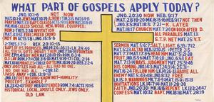 Primary view of object titled 'What Part of Gospels Apply Today'.