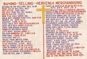 Primary view of object titled 'Buying--Selling--Heavenly Merchandising'.