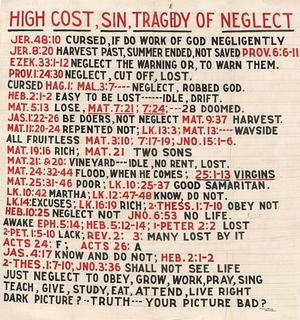 Primary view of object titled 'High Cost, Sin, Tragedy of Neglect'.