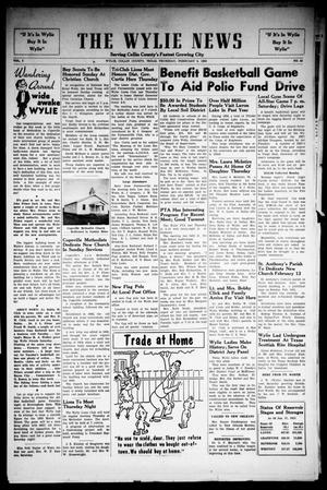 Primary view of object titled 'The Wylie News (Wylie, Tex.), Vol. 7, No. 42, Ed. 1 Thursday, February 3, 1955'.