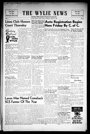Primary view of object titled 'The Wylie News (Wylie, Tex.), Vol. 7, No. 48, Ed. 1 Thursday, March 17, 1955'.