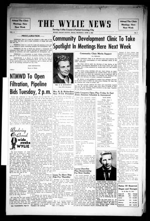 Primary view of object titled 'The Wylie News (Wylie, Tex.), Vol. 8, No. 7, Ed. 1 Thursday, June 2, 1955'.