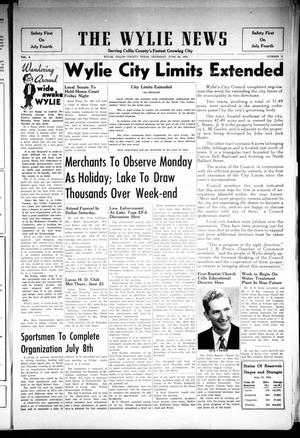 Primary view of object titled 'The Wylie News (Wylie, Tex.), Vol. 8, No. 11, Ed. 1 Thursday, June 30, 1955'.