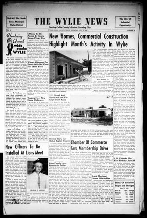 Primary view of object titled 'The Wylie News (Wylie, Tex.), Vol. 8, No. 12, Ed. 1 Thursday, July 7, 1955'.