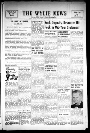 Primary view of object titled 'The Wylie News (Wylie, Tex.), Vol. 9, No. 12, Ed. 1 Thursday, July 12, 1956'.