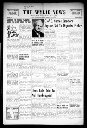 Primary view of object titled 'The Wylie News (Wylie, Tex.), Vol. 10, No. 7, Ed. 1 Thursday, June 6, 1957'.