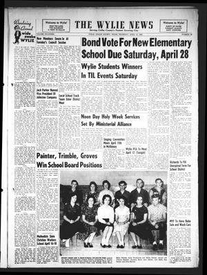 Primary view of object titled 'The Wylie News (Wylie, Tex.), Vol. 14, No. 49, Ed. 1 Thursday, April 12, 1962'.
