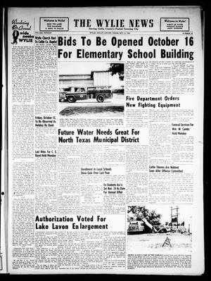 Primary view of object titled 'The Wylie News (Wylie, Tex.), Vol. 15, No. 23, Ed. 1 Thursday, October 11, 1962'.