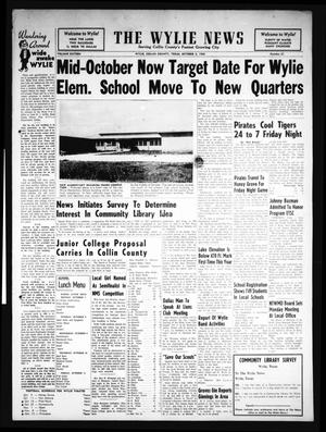 Primary view of object titled 'The Wylie News (Wylie, Tex.), Vol. 16, No. 21, Ed. 1 Thursday, October 3, 1963'.
