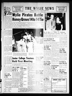 Primary view of object titled 'The Wylie News (Wylie, Tex.), Vol. 16, No. 22, Ed. 1 Thursday, October 10, 1963'.