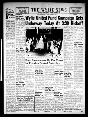 Primary view of object titled 'The Wylie News (Wylie, Tex.), Vol. 16, No. 26, Ed. 1 Thursday, November 7, 1963'.