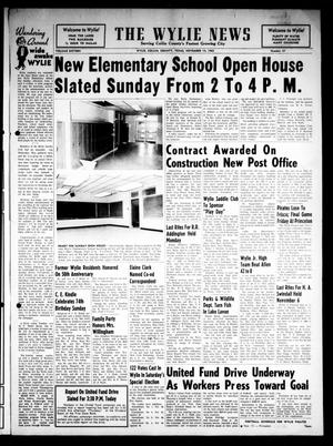 Primary view of object titled 'The Wylie News (Wylie, Tex.), Vol. 16, No. 27, Ed. 1 Thursday, November 14, 1963'.
