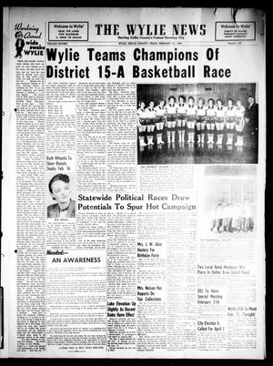 Primary view of object titled 'The Wylie News (Wylie, Tex.), Vol. 16, No. 39, Ed. 1 Thursday, February 13, 1964'.